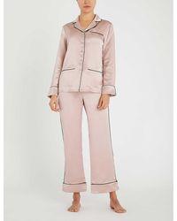Olivia Von Halle Coco Silk Pyjama Set - Pink