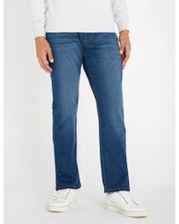 PAIGE - Normandie Straight Jeans - Lyst