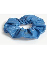 Balenciaga - Logo Leather Hair Scrunchie - Lyst