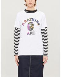 A Bathing Ape University Camouflage-print Cotton-jersey T-shirt