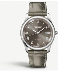 Longines - L2.793.4.71.3 Master Stainless Steel And Leather Watch - Lyst