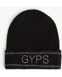 Maje Gyps Wool-blend Beanie Hat - Black