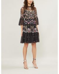 Needle & Thread - Dreamers Floral-embroidered Tulle Dress - Lyst