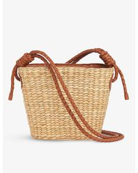 Whistles Lyra Braided Leather And Straw Tote Bag - Multicolor