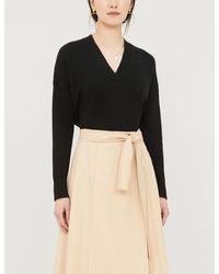 The White Company Oversized Cashmere Jumper - Black