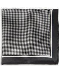 BOSS - Polka-dot Print Silk Pocket Square - Lyst