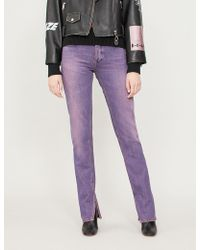 Ganni - Colour-washed Straight-leg High-rise Jeans - Lyst