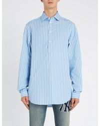 Gucci - Striped Relaxed-fit Cotton Shirt - Lyst