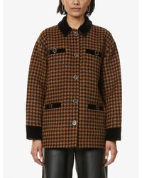 Sandro Tayla Single-breasted Wool-blend Coat - Brown