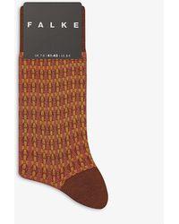 Falke Cotton-blend Woven Socks - Brown