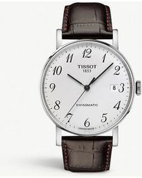 Tissot - T109.407.16.032.00 Everytime Swissmatic Stainless Steel And Leather Watch - Lyst