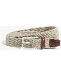 BOSS by Hugo Boss Woven Elasticated Belt - Natural