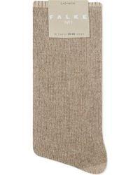 Falke No1 Pure Cashmere Socks - Natural
