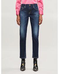 AG Jeans Ex-boyfriend Slim High-rise Jeans - Blue
