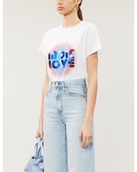 Sandro Sequin-embellished Cotton-jersey T-shirt - White