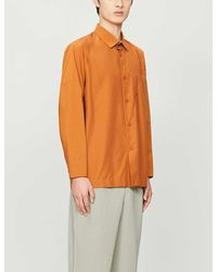 Homme Plissé Issey Miyake Relaxed-fit Woven Shirt - Orange