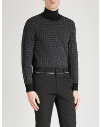 Givenchy - Monogram-jacquard Wool Jumper - Lyst
