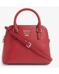 DKNY Whitney Dome Satchel - Red