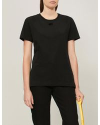 0bad9a72a703 Lyst - Off-White C O Virgil Abloh Arrow Flocked Cotton Jersey T ...