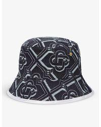 CASABLANCA Graphic-print Denim Bucket Hat - Blue