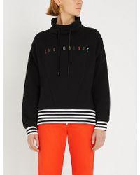 Chocoolate - Logo-embroidered Cotton-blend Turtleneck Sweatshirt - Lyst