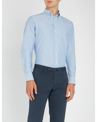 Drake's - Slim-fit Cotton Oxford Shirt - Lyst