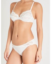 Maison Lejaby Insaisissable Lace Underwired Bra - White