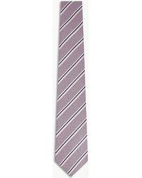 Canali - Striped Silk Tie - Lyst