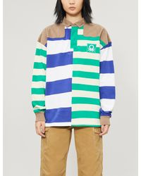 Benetton Striped Relaxed-fit Stretch-cotton Polo Shirt - Multicolor