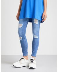 HERA - Ripped Skinny Cotton-blend Jeans - Lyst