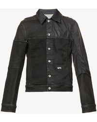 Rick Owens Drkshdw Raw-seam Slim-fit Cotton-blend Jacket - Black