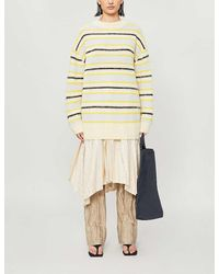 Acne Studios Striped Knitted Sweater - Natural