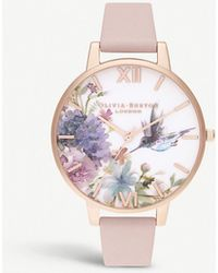 Olivia Burton Ob16pp44 Painterly Prints Stainless Steel And Leather Watch - Multicolour