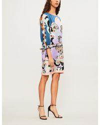 Emilio Pucci - Dropped-waist Silk-twill Dress - Lyst