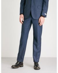 Richard James - Pindot-pattern Wool And Mohair-blend Trousers - Lyst