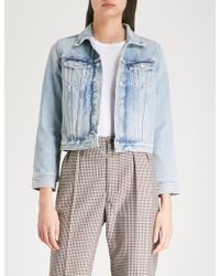 Agolde - Shrunken Denim Jacket - Lyst
