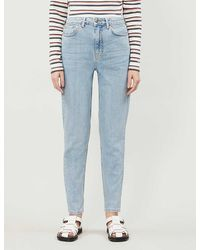 TOPSHOP High-rise Mom-fit Denim Jeans - Blue