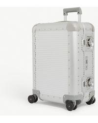 Fpm Fabbrica Pelletterie Milano Bank S Spinner 55 Aluminium Suitcase - Metallic