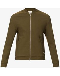 PREVU Mens Khaki Salvatore Logo-branded Stretch-woven Jacket Xxl - Green