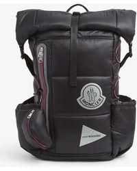 Moncler Genius X And Wander Logo-print Shell Backpack - Black
