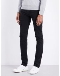Sandro | Distressed Mid-rise Slim-fit Jeans | Lyst