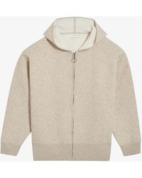 Sandro Logo-embroidered Stretch-woven Hoody - Multicolour