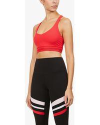 Lorna Jane V-neck Stretch-jersey Sports Bra - Pink