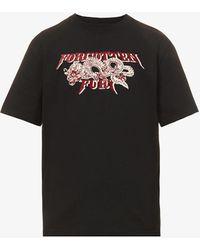 Nicholas Daley Forgotten Fury Graphic-print Cotton-jersey T-shirt - Black