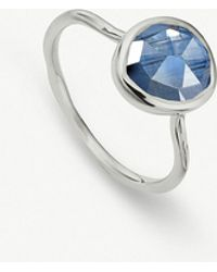 Monica Vinader - Siren Sterling Silver And Kyanite Medium Stacking Ring - Lyst