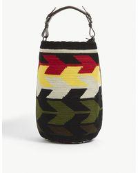 Colville Jacquard-pattern Cotton Cylinder Bag - Multicolour