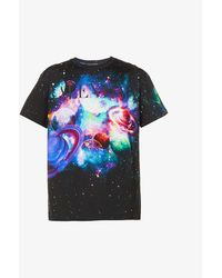 Valentino - Galactic Graphic-print Cotton-jersey T-shirt - Lyst
