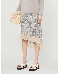 Zadig & Voltaire Joslin Graphic-print Crepe Midi Skirt - Multicolour