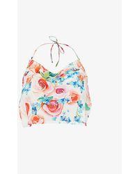 MaisonCléo Lily Floral-print Silk Top - Multicolor