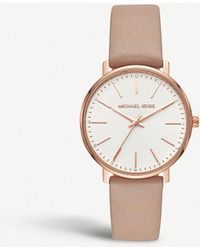 Michael Kors - Mk2748 Pyper Rose-gold Stainless Steel And Leather Watch - Lyst
